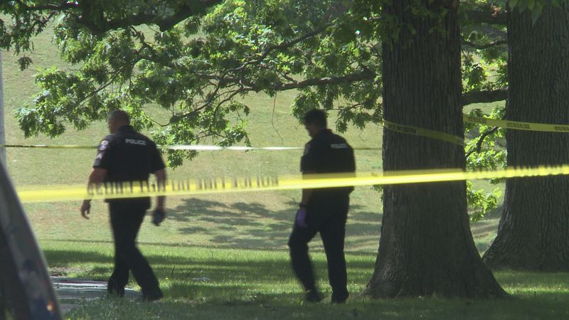 Lansing Police on the scene of Linden Grove Ave in Lansing investigating an incident.