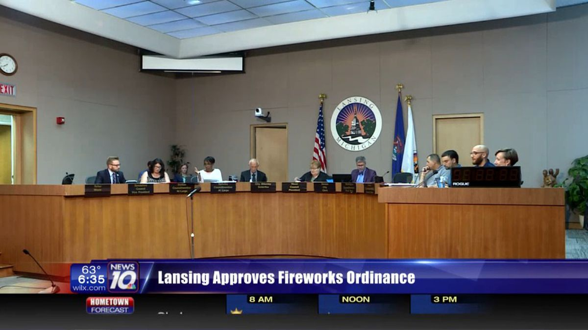 Lansing council approves fireworks ordinance. (Source WILX)