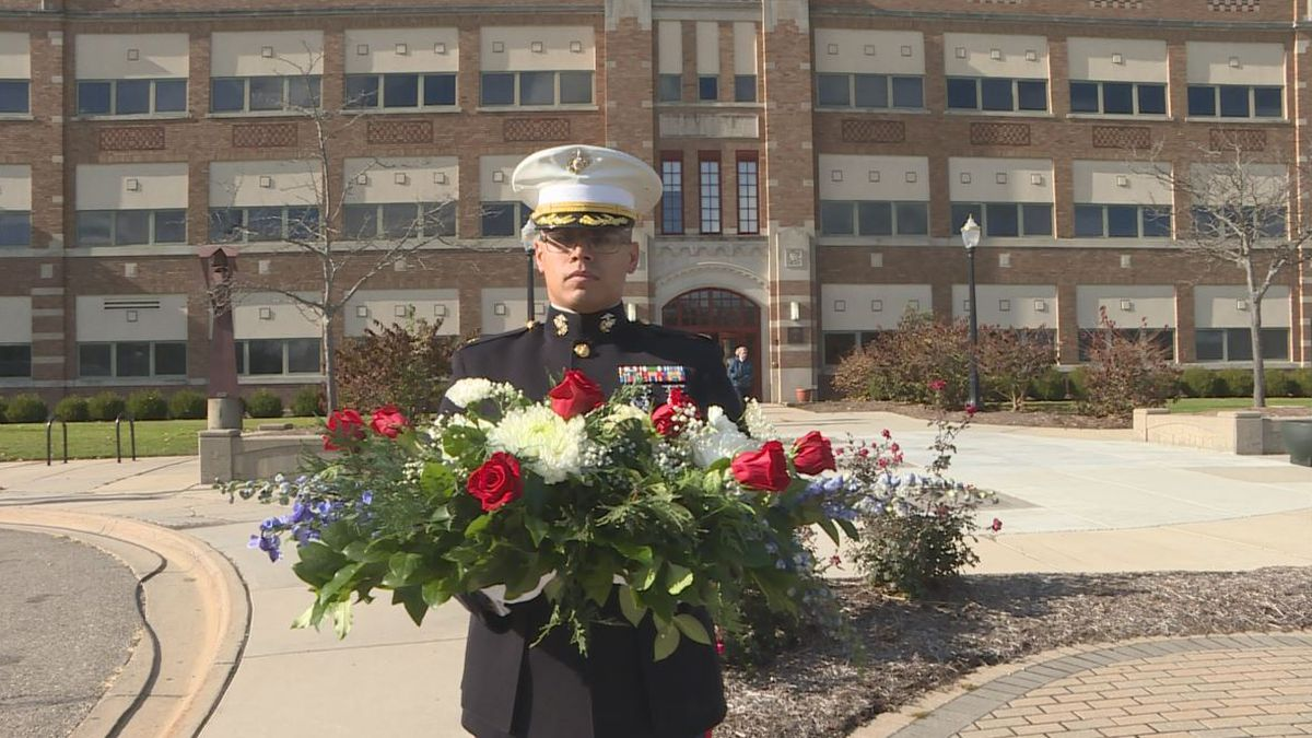 Wreath laying ceremony Friday in East Lansing in honor of Veterans Day. (Source WILX)