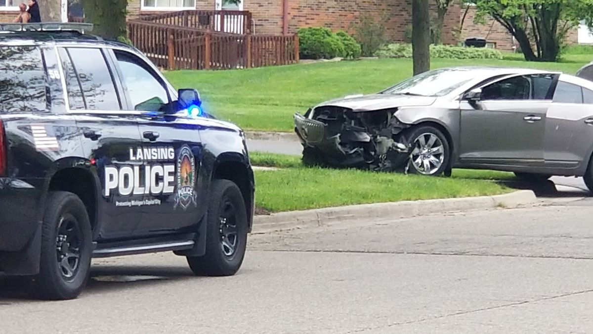 The area of Balfour Drive and Georgetown Boulevard is closed to traffic. (Source: WILX)