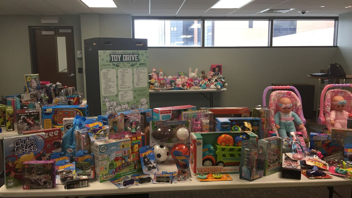 The children at Sparrow's Children's Center will be a little happier after a donations were dropped off at the hospital. (Source WILX)