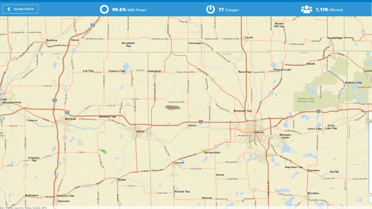 Over 70 outages in the Greater Lansing area have been reported.