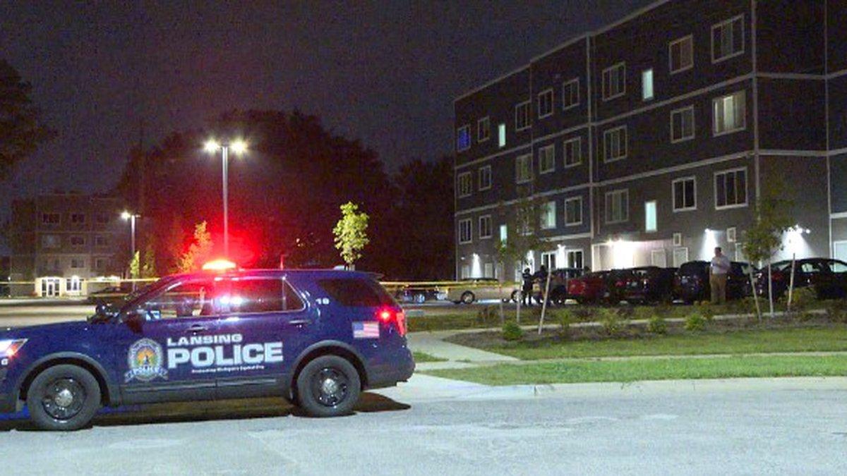 Lansing Police investigate a shooting on West Ottawa Street near Butler Boulevard.
