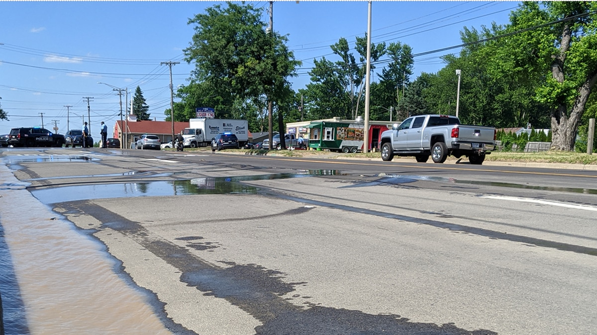 A water main break closed Martin Luther King Jr. Boulevard, from Pierce Road to Reo Road.