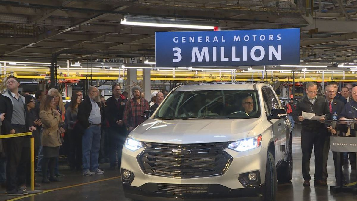 The General Motors plant in Delta Township built its three-millionth vehicle on Friday, February 21.  (Source WILX)