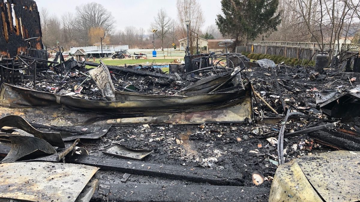 Household Fire took everything, including 3 vehicles. (Source gofundme)