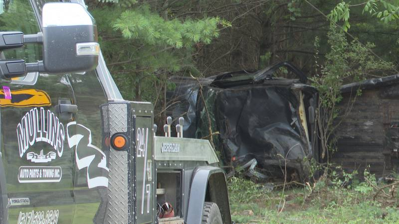 Woman hurt in car crash with a semi truck