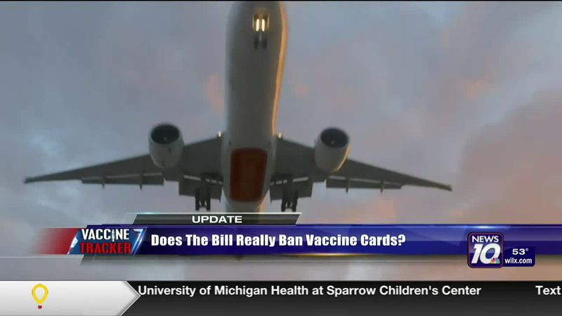 Does the bill really ban vaccine cards?