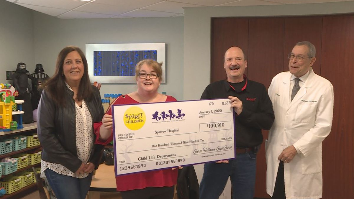 The Sparrow Foundation received a generous donation for the Sparrow Children's Center on Wednesday, January 15. (Source WILX)