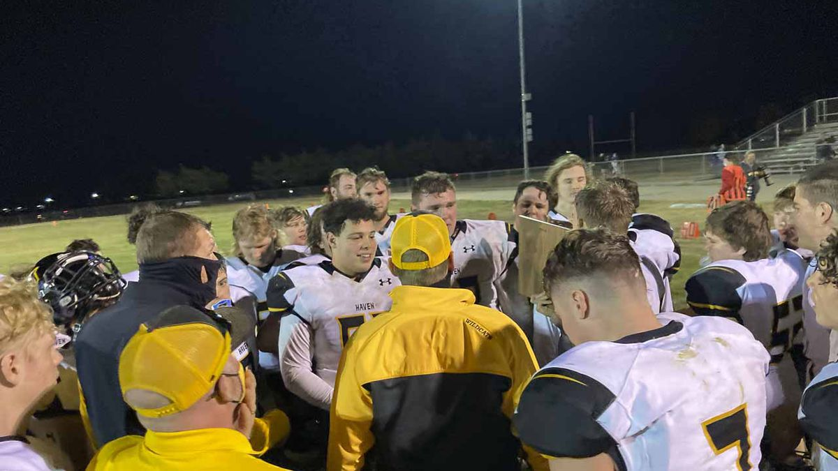 Haven Co-Head Coaches Drew Thalmann and Thomas Cooprider address their team after the game. ...