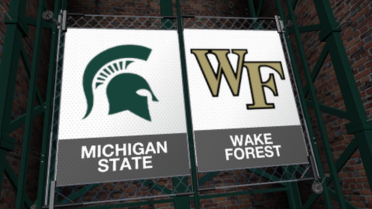 The Michigan State Spartans will play the Wake Forest Demon Deacons in the Pinstripe Bowl at Yankee Stadium.