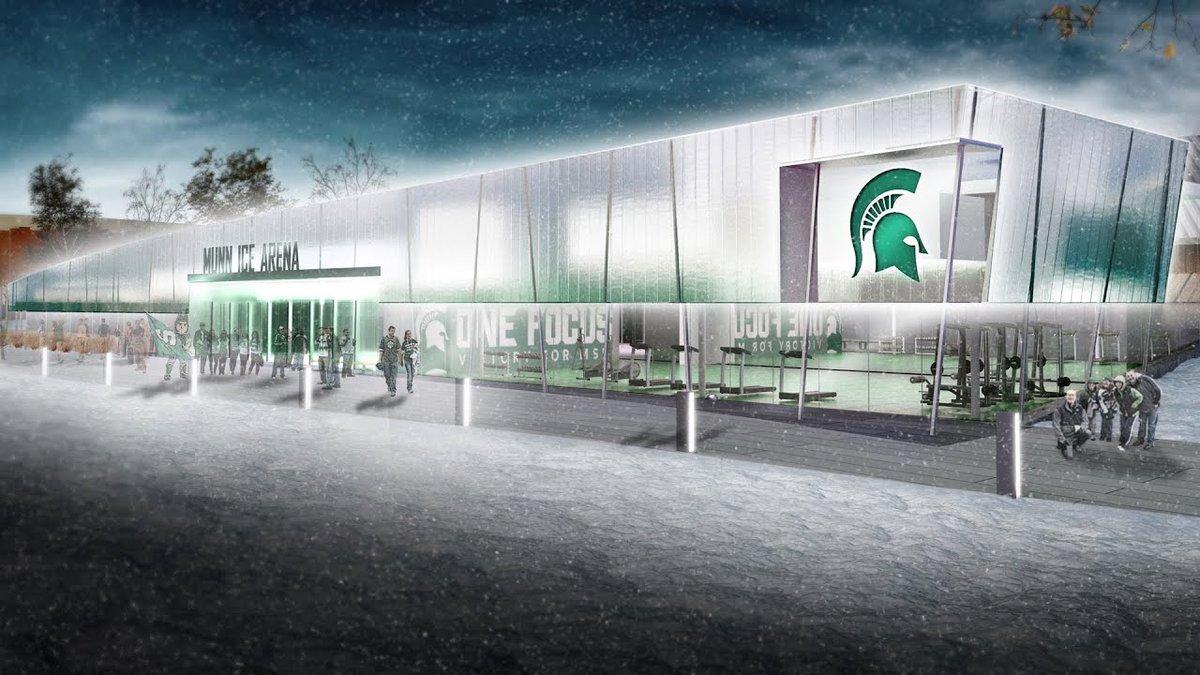 Munn Ice Arena is undergoing 22.2 million in renovations.