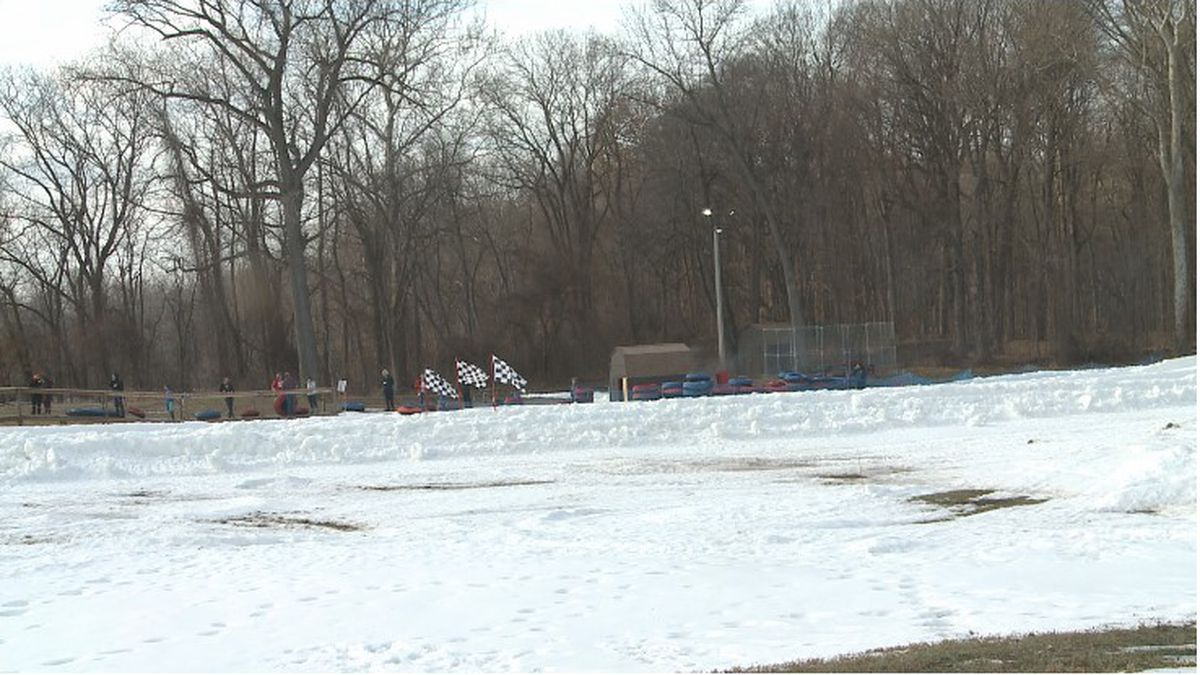 Hawk Island Park Manager Brian Collins said this year it took two weeks and around 40 to 60 hours of snow-making to open only two lanes on their hill. (Source: WILX)