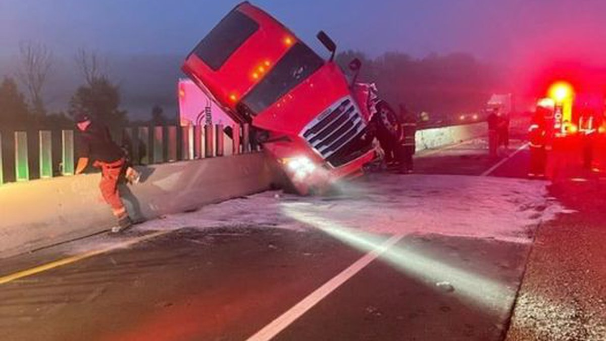 A semi rolled over on I-69 south of Charlotte. The driver was arrested on suspicion of driving...