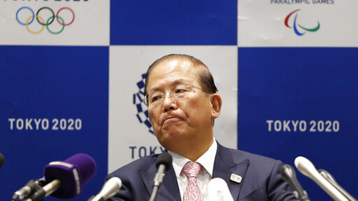Tokyo 2020 Organizing Committee CEO Toshiro Muto attends a news conference after a Tokyo 2020...