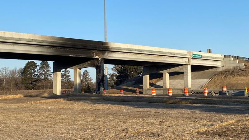 The Williamston Road overpass on I-96 is down to one lane. There overpass is seen here with...