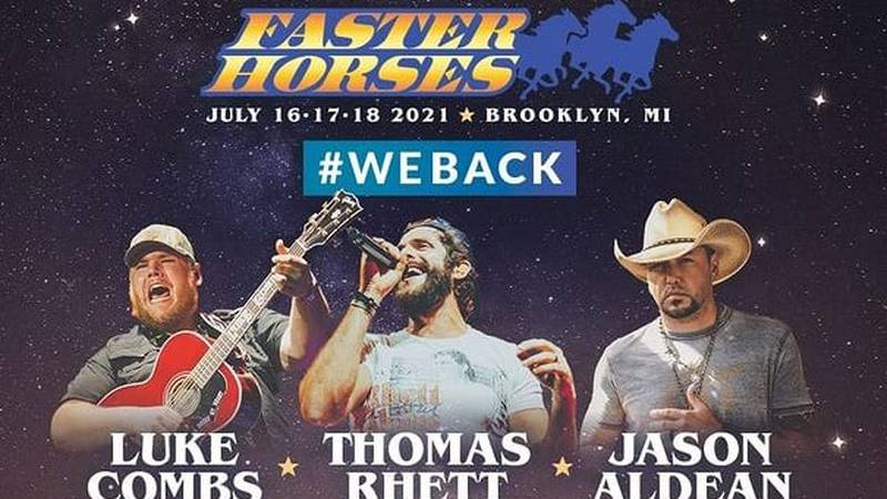 Michigan's Faster Horses country music festival is returning to Brooklyn at the Michigan...