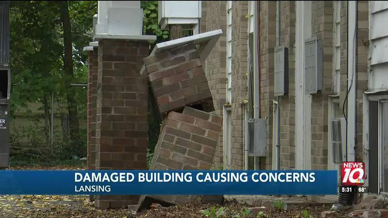 Damaged building causing concerns