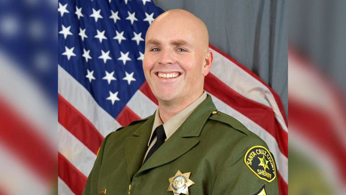 """Sgt. Damon Gutzwiller, 38, is being remembered as """"a courageous, intelligent, sensitive and a caring man"""" by the sheriff's office. He was married with children and had worked for the sheriff's office since 2006. (Source: Santa Cruz County Sheriff's Office/Facebook)"""