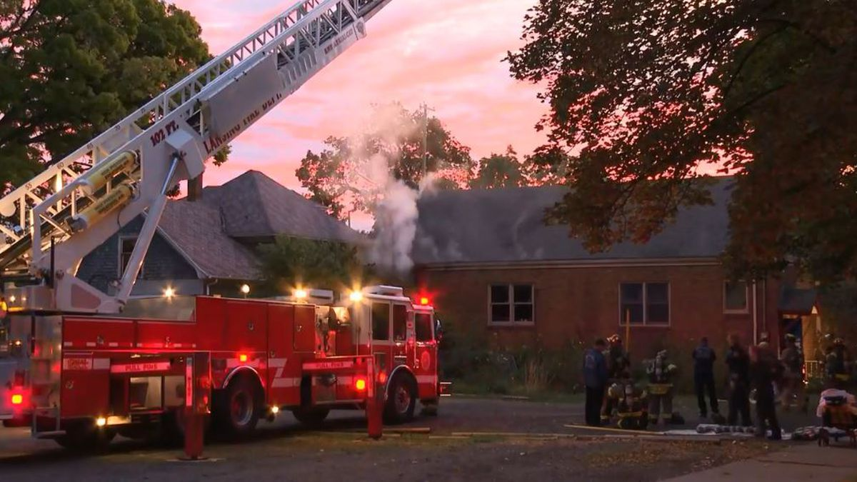 Firefighters were battling the blaze at Unity Spiritual Center on South Holmes Road just after 6 a.m. (Source WILX)