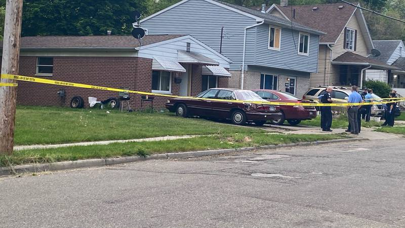 Police are on the scene of a shooting on Bensch Street on Lansing's east side.