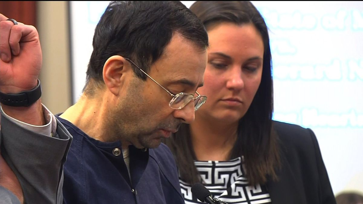 """Before his sentencing, former USA Gymnastics doctor Larry Nassar made a brief statement, saying he would """"carry the words"""" of his victims with him for the rest of his days."""