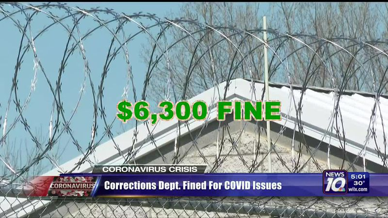 Corrections Dept. fined for COVID-19 issues