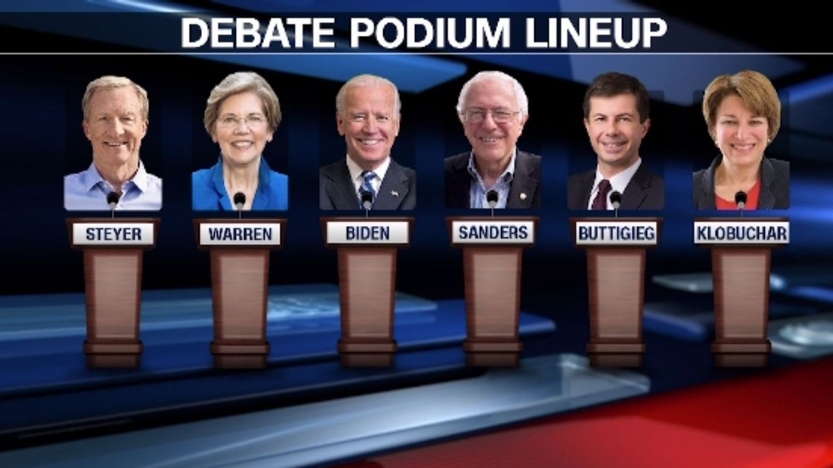 Six of the Democratic presidential candidates meet for the final debate before the Iowa caucuses on Tuesday. (Source CNN)