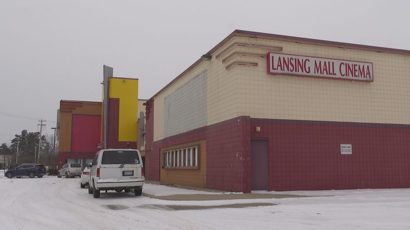 Officials broke ground on the vacant Lansing Mall theater Saturday.