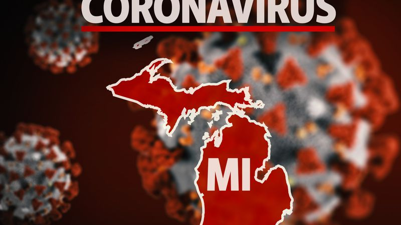 Coronavirus in Michigan graphic