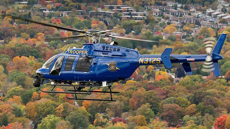 Michigan State Police helicopter