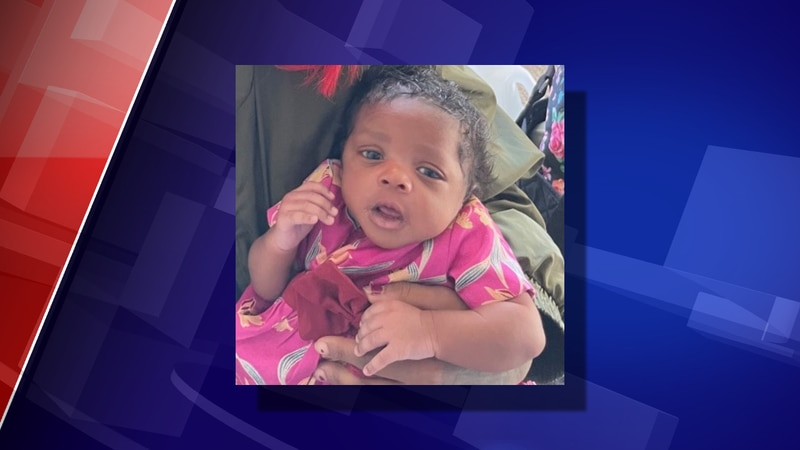 5-week-old Samira Lynn Blackmon is missing from Albion.
