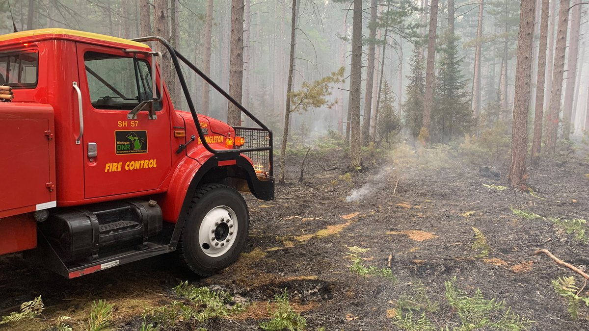 A fire burned about 6 acres at Pictured Rocks National Lakeshore and a neighboring state forest.