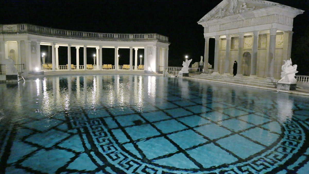 This Dec. 5, 2013 photo shows the Neptune Pool on the grounds of Hearst Castle, the former...