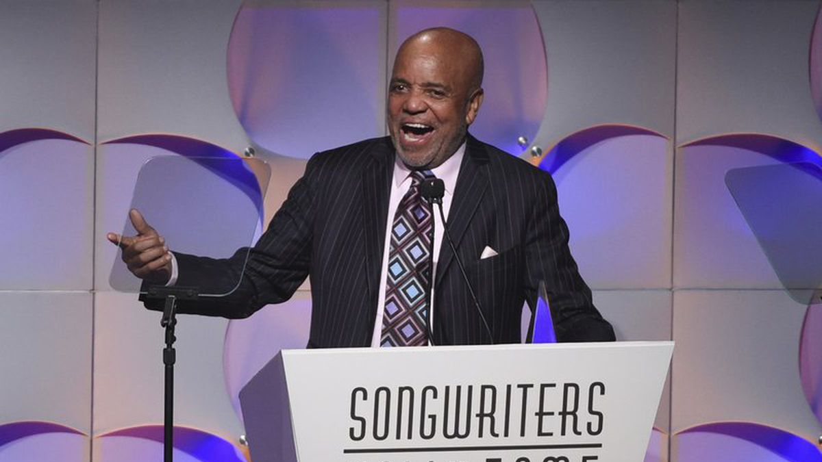 """FILE - In this June 15, 2017, file photo, music mogul Berry Gordy accepts his award at the 48th Annual Songwriters Hall of Fame Induction and Awards Gala at the New York Marriott Marquis Hotel, in New York. The Motown mogul who launched the careers of numerous stars like Stevie Wonder, Diana Ross and Michael Jackson has announced his retirement. The Detroit Free Press reports Gordy said he had """"come full circle"""" at a 60th anniversary event for Motown Records on Sunday, Sept. 22, 2019. (Photo by Evan Agostini/Invision/AP, File)"""
