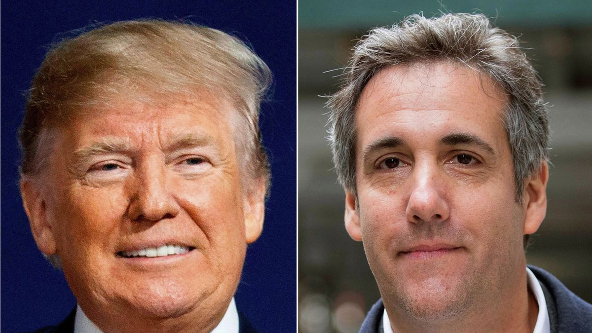 This file combination photo shows President Donald Trump and attorney Michael Cohen. Cohen's...