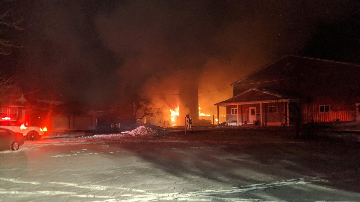 Fire destroys barn in Webberville (Source: WILX)