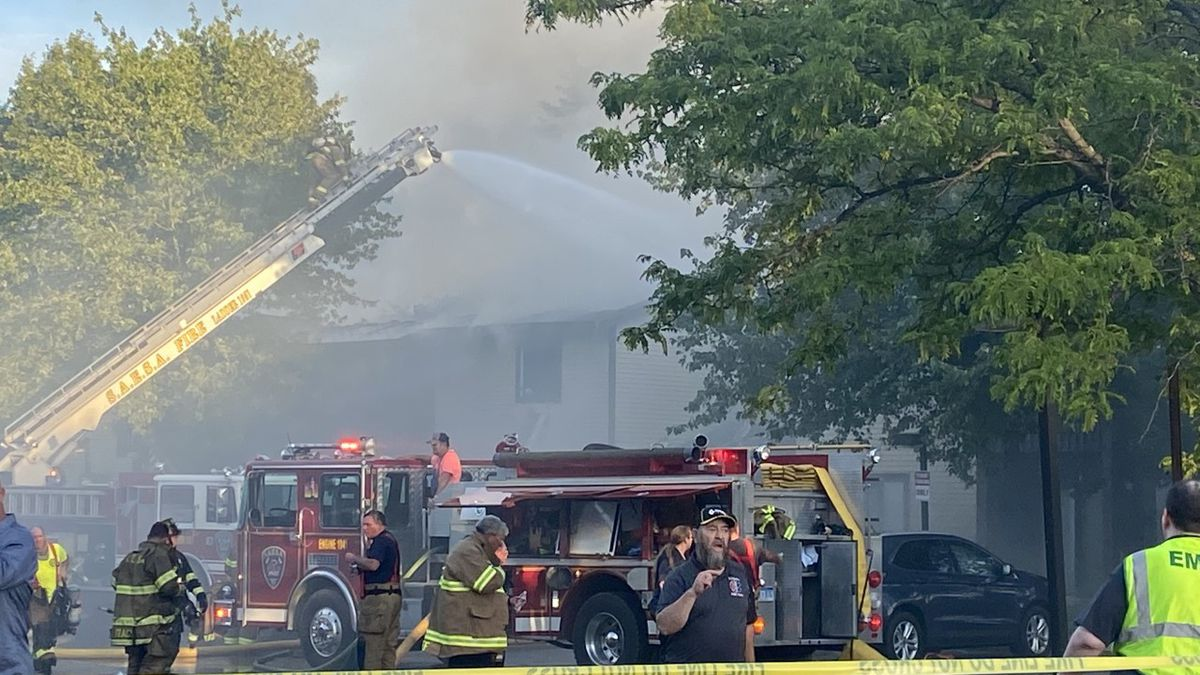 A fire brokeout during the early evening on Tuesday, August 11 in Stockbridge, The extent of the damage or injuries is stilll not know.