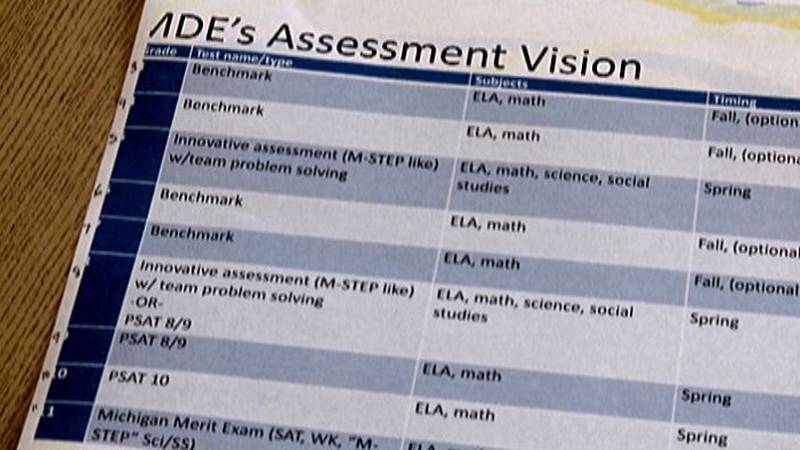 Michigan students in third through eighth grades take the Michigan Student Test of Educational...