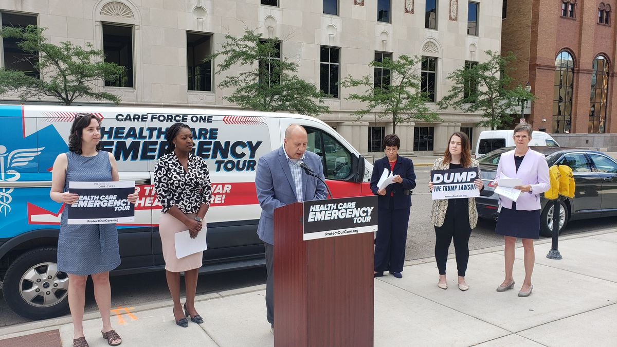 """""""Care Force One"""" was in Lansing on Wednesday, that's a health care bus that has been making stops around the country.  (Source WILX)"""