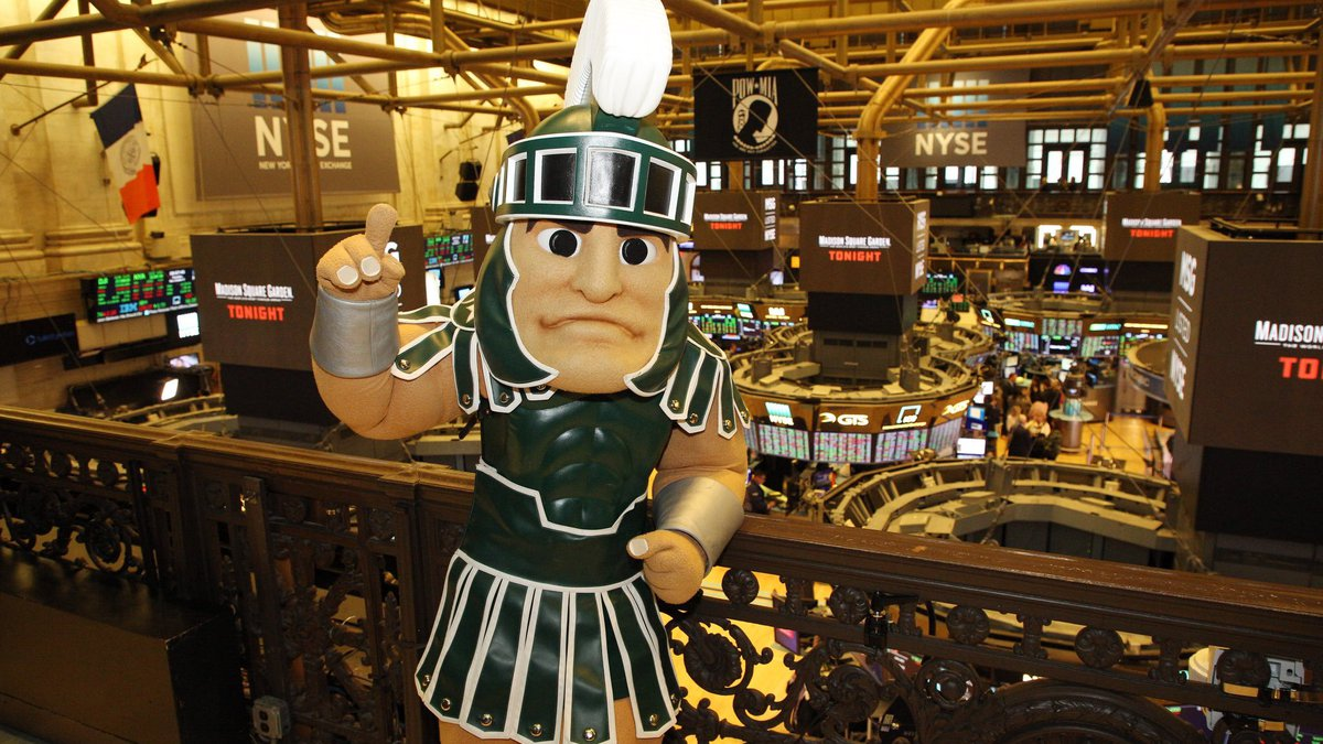MSU's basketball program confirmed Sparty's visit to the NYSE on its...