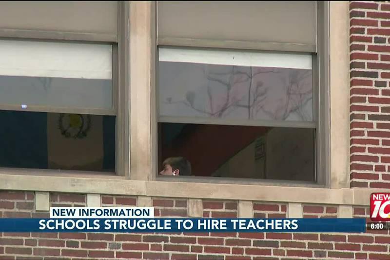 Schools struggle to hire teachers