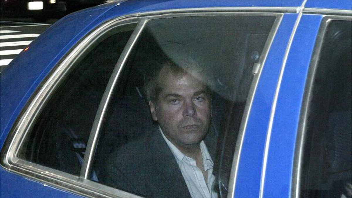 In this Nov. 18, 2003, file photo, John Hinckley Jr. arrives at U.S. District Court in Washington. The man who tried to assassinate President Ronald Reagan is interested in getting a job in the music industry, possibly in California, his lawyer said at a court hearing in Washington on Tuesday. (AP Photo/Evan Vucci, File)