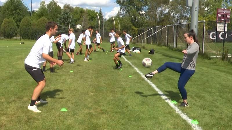 Okemos High School soccer drills