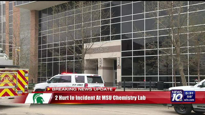 Police: 2 injured in possible uncontrolled chemical reaction at MSU