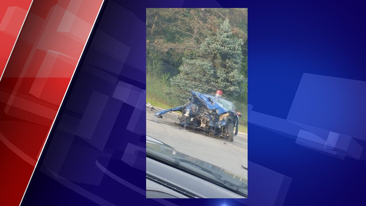 Viewer sent News 10 this photo of a crash involving state trooper on Old US 27 and Cutler Road.