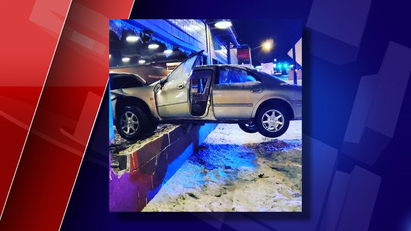 A man stole his grandmother's car and crashed into a window of the event space at Grand River...