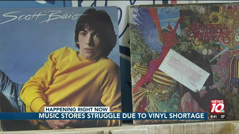 Music stores are now facing a shortage of vinyl