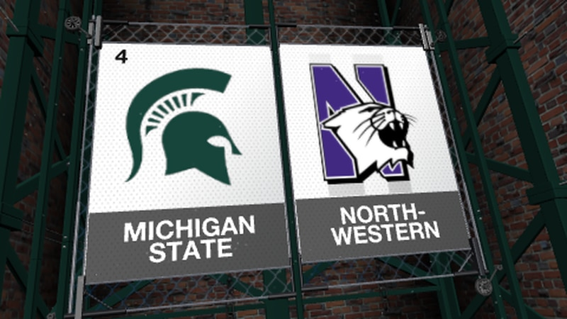 The Michigan State Spartans open up conference play against the Northwestern Wildcats