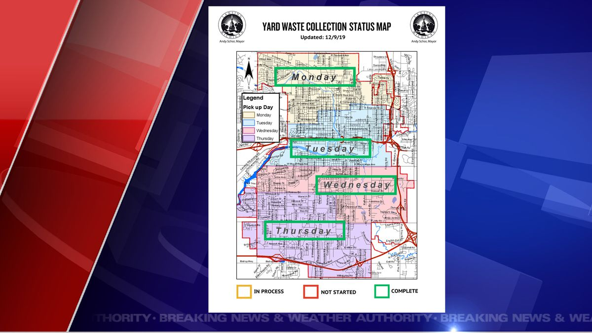 The office of Mayor Schor says that their crews have collected all yard waste that was placed at the curbside by December 1, 2019.   (Source WILX)